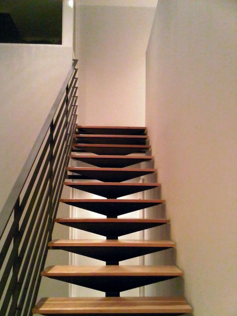 open steel staircase  ...
