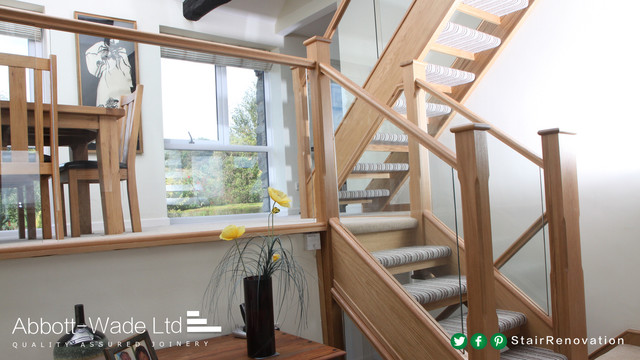 Open Tread Stairs U0026 Split Level Living Area Contemporary Staircase