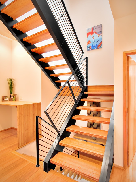 Orcas Lofts contemporary-staircase