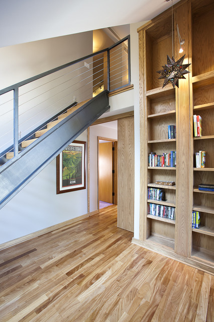 Orchard Lake Loft Stairs Contemporary Staircase Detroit By Lewand Custom Homes