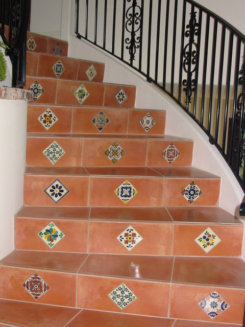 Our Staircase Creations Mediterranean Staircase San Diego By Flooring Creations
