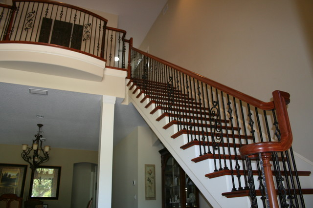 Over The Post Stair Project English Residence Vero Beach FL Mediterranean