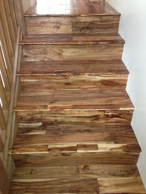 Owc Natural Acacia Rustic Staircase Seattle By