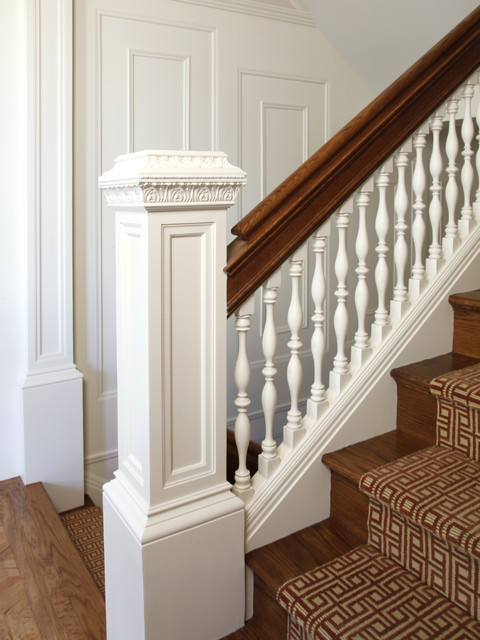 Pacific Heights Residence Stair Detail Traditional
