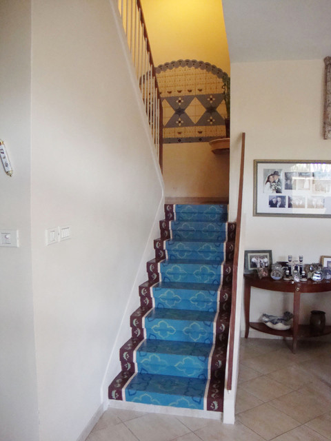 Painted Pattern On Stone Stairs Mediterranean