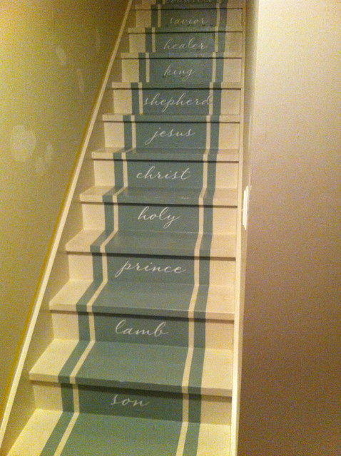 painted stairs traditional staircase nashville by bella tucker decorative finishes. Black Bedroom Furniture Sets. Home Design Ideas