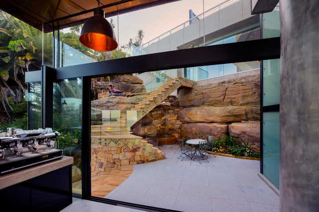Staircase - contemporary u-shaped staircase idea in Sydney
