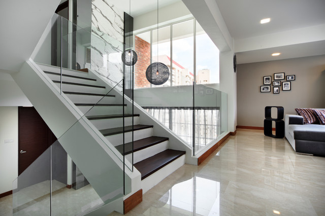 Pandan Valley Condo Contemporary Staircase Other