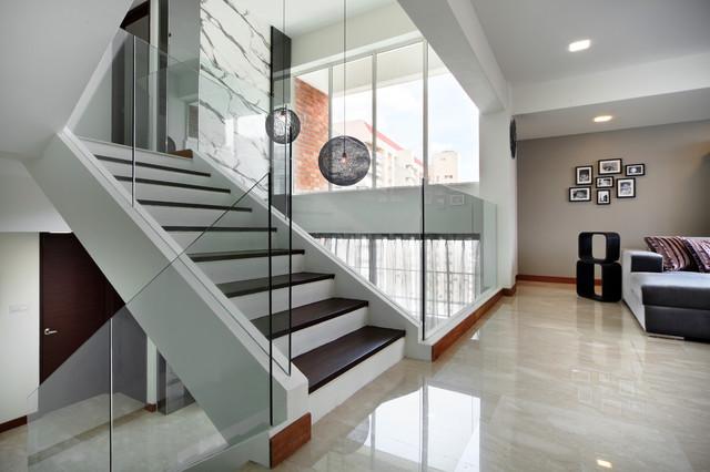 Pandan Valley Condo contemporary-staircase