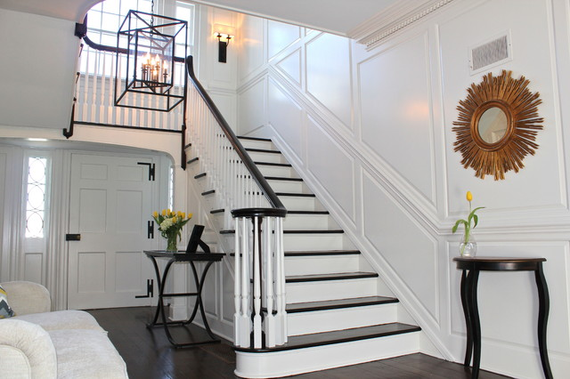 Foyer Staircase Questions : Paneled foyer