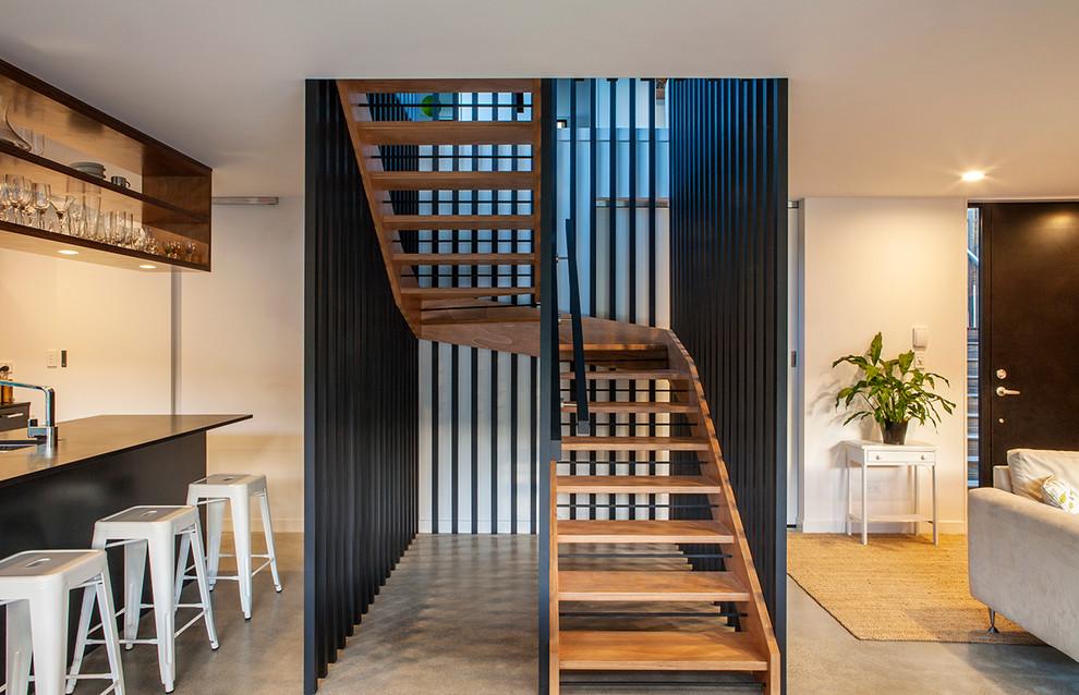 Moderne Treppe in Auckland