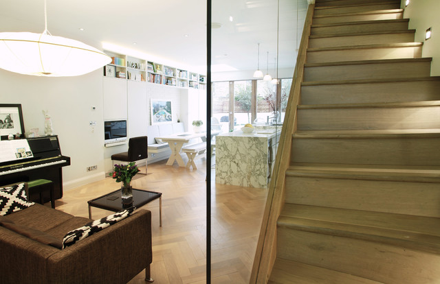Parsons Green House contemporary-staircase