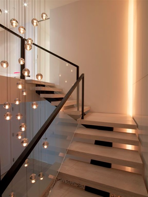 Penthouse At The Ritz Modern Staircase New York By
