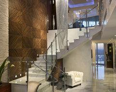 Pfuner Design - Jade Ocean Penthouse eclectic-staircase