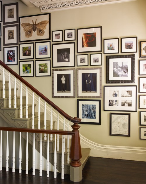 a collection of precious mementos beside a staircase