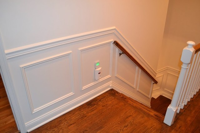 Delightful Picture Frame Molding And Trim Traditional Staircase