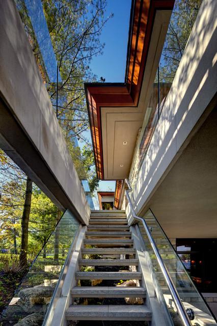 Interlaken Michigan Retreat contemporary-staircase