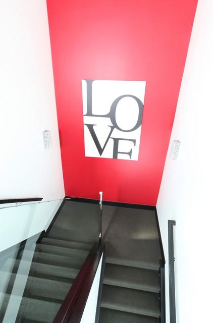 Platt Park Custom Home contemporary-staircase