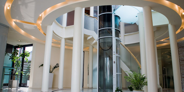 Pneumatic Vacuum Home Elevators by Nationwide Lifts contemporary-staircase