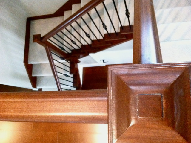Poplar Townhome With Carpet traditional-staircase