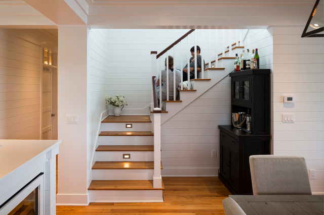 Staircase - beach style staircase idea in Seattle
