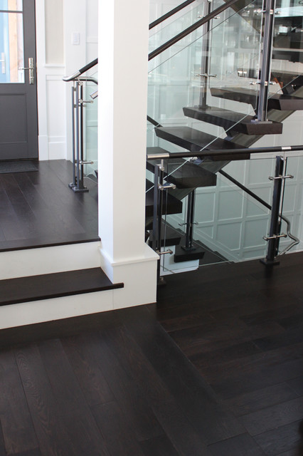 Prefinished Engineered Oak Flooring U0026 Stair Treads Eclectic Staircase