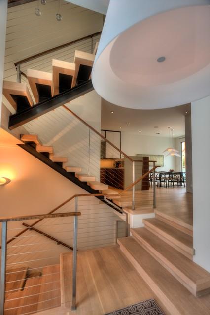 Presidio Heights Home Interior & Exterior Redesign contemporary-staircase