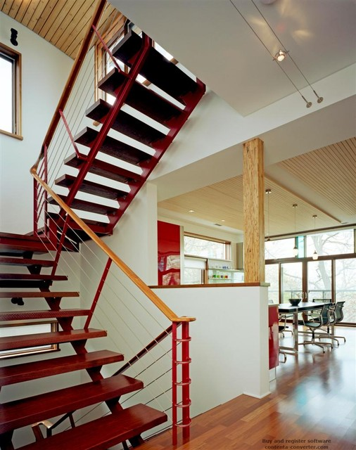 Private Residence 2 contemporary-staircase