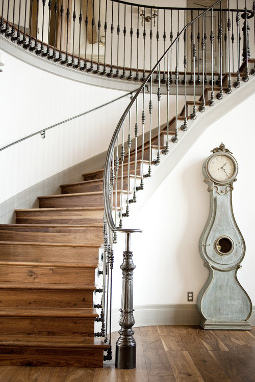 traditional staircase Clocks and Home Decor: Time Flies!