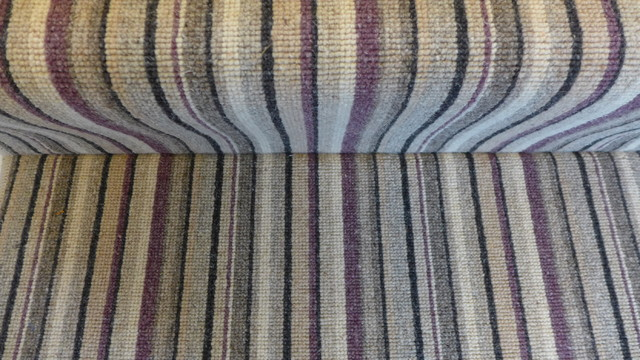 Purple Striped Stair Carpet Contemporary Staircase