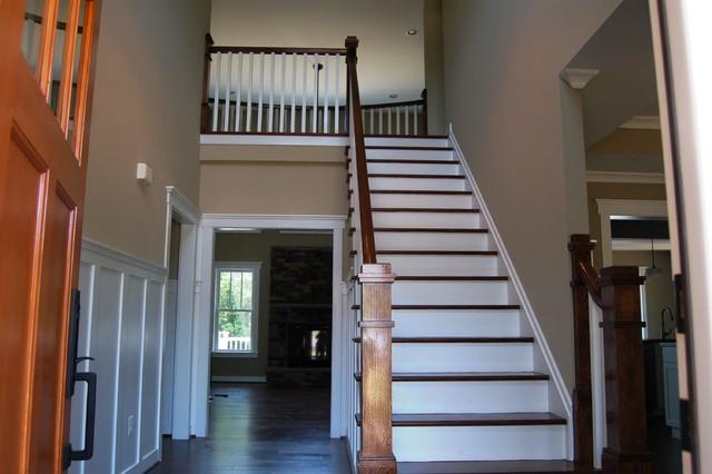 Quaker Custom Homes traditional-staircase