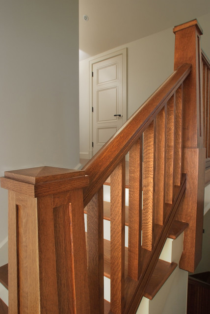 Quarter Sawn White Oak Staircase Craftsman Staircase