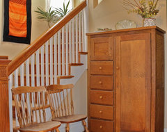 Queen Anne Victorian Home in the Highlands traditional-staircase