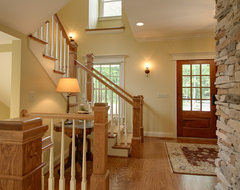 Quiet Casual Home: Entryway and Stair traditional-staircase