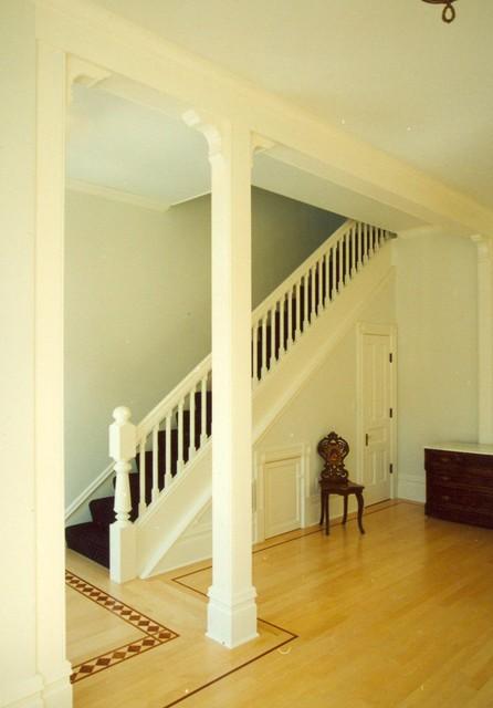 R-E-S-P-E-C-T staircase traditional-staircase