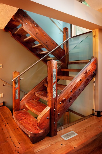 Race Point Residence Traditional Staircase Vancouver
