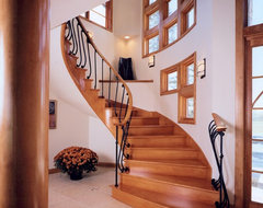 Racine Custom Home contemporary staircase