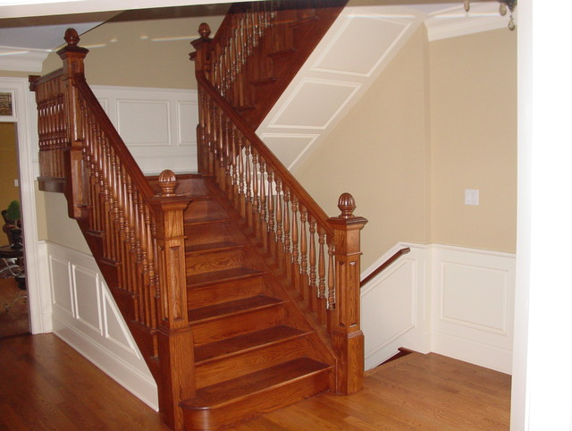 raised panel wainscot staircase