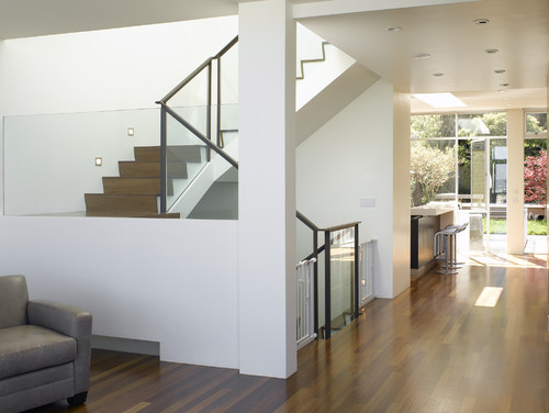 Tension Baby Gate On Glass Stair Panel