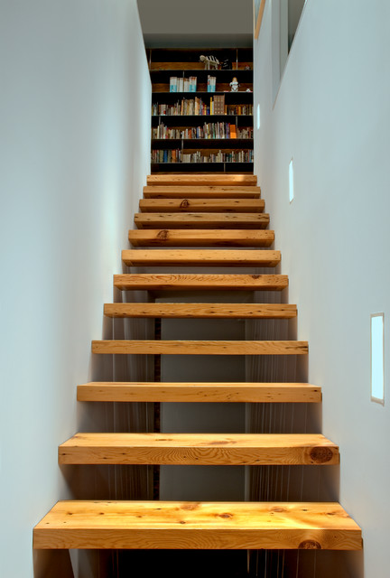 Rear stair to the second floor industrial staircase - Stairs to second floor design ...