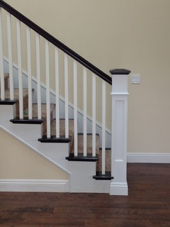 Recessed Panel Box Newel Traditional Staircase San