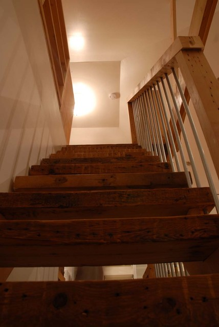 Reclaimed wood stairs modern staircase new york by for Reclaimed wood new york