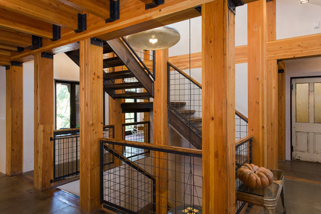 Salt Lamps Leeds : Reclaiming the Gully House, A LEED Platinum Remodel - Industrial - Staircase - Salt Lake City ...