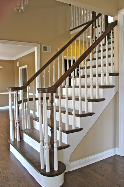 Refinished Stair traditional-staircase