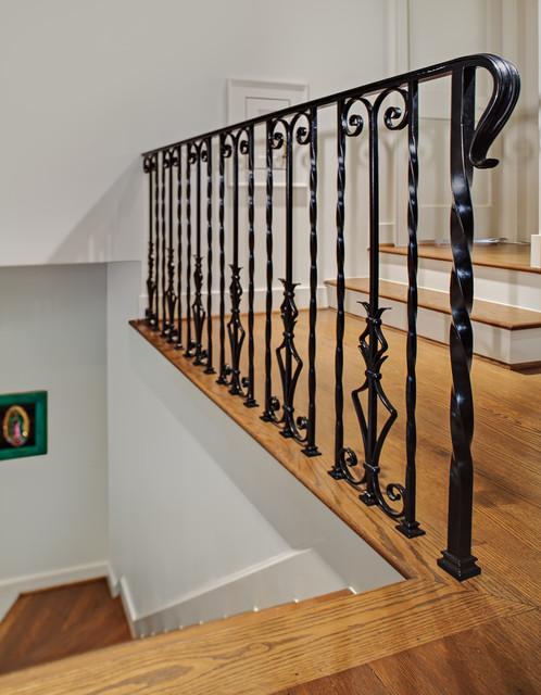 楼梯美式风格装潢设计图片