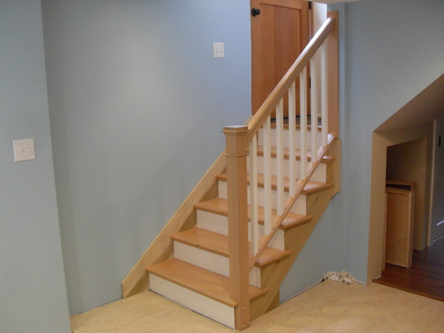 Removable Handrail Traditional Staircase Portland