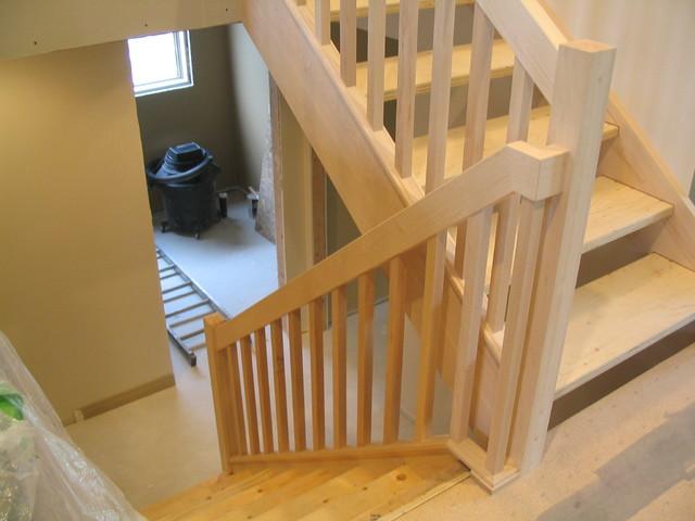 Renovation   Warm Contemporary Maple Stair U0026 Rail ...