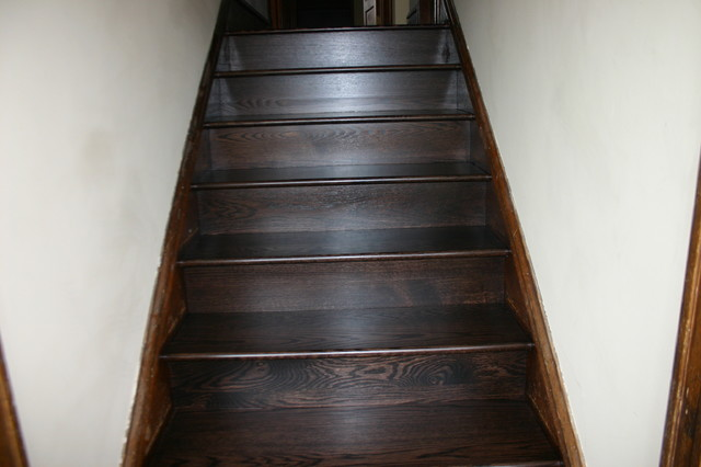 Replacement Old Douglas Fir Steps With Naw Red Oak Treads