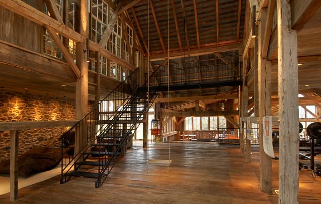 Repurposed Tobacco Barn-Honeybrook, PA - Farmhouse - Staircase ...