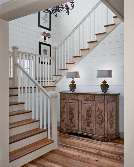 Residences in DeBordieu Colony, Georgetown, SC rustic-staircase